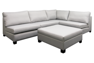 THE LYNETTE 3 SEATER WITH CHAISE AND STORAGE OTTOMAN