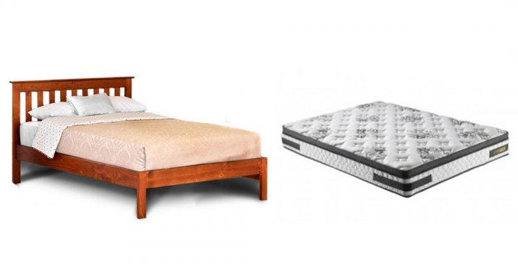 AUTUMN QUEEN BED WITH ULTRA SLEEP QUEEN MATTRESS