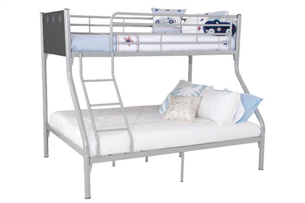 OSCAR TWIN SINGLE OVER DOUBLE BUNK BED FRAME (John Young Furniture)