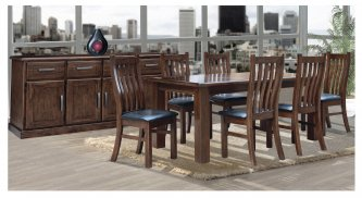 BUSHLAND 7 PIECE 180 DINING SUITE