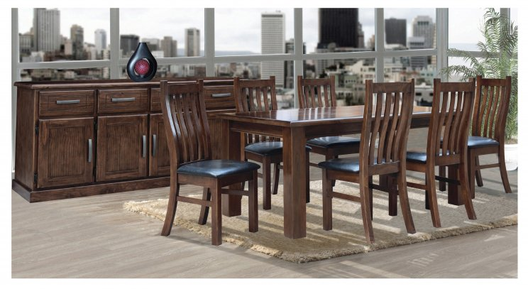 BUSHLAND 7 PIECE 150 DINING SUITE