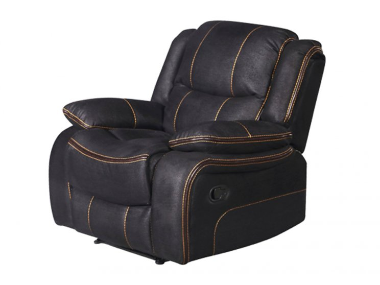 Chertsey Single Seater Recliner Black