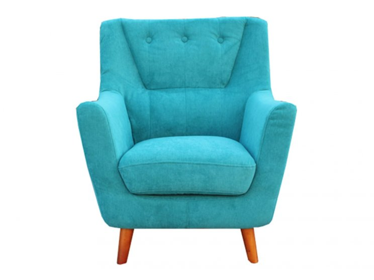 Chicago Single Seater Sofa Tiffany Blue