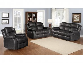 CHRISTCHURCH 2 SEATER RECLINER, BLACK