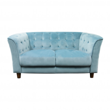CLAIR 2 SEATER SOFA, CYAN