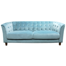 CLAIR 3 SEATER SOFA, CYAN
