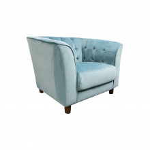 CLAIR SINGLE SEATER SOFA, CYAN