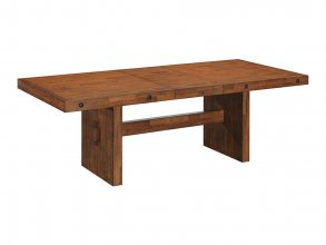 CONWAY LEAF TOP EXT TABLE, 183/229X102X75 BROWN