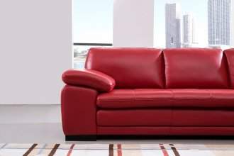 Edward Corner Suite With Rhf Chaise Red