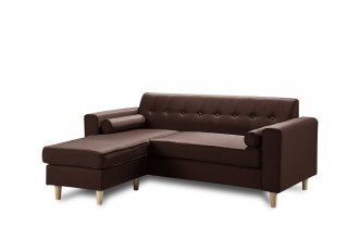 Essex 2 Seater Sofa With Chaise Brown