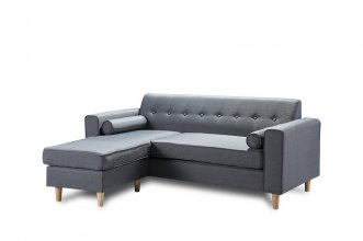 Essex 2 Seater With Chaise Grey