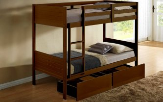 Eva Twin Bunk Bed Frame White