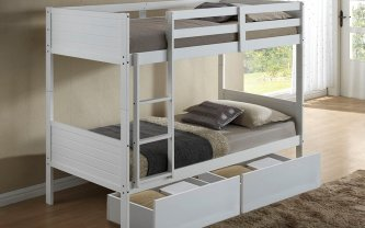 Eva Single Bunk Bed White