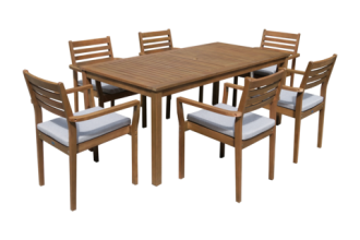 JONAS 7 PIECE OUTDOOR DINING SET