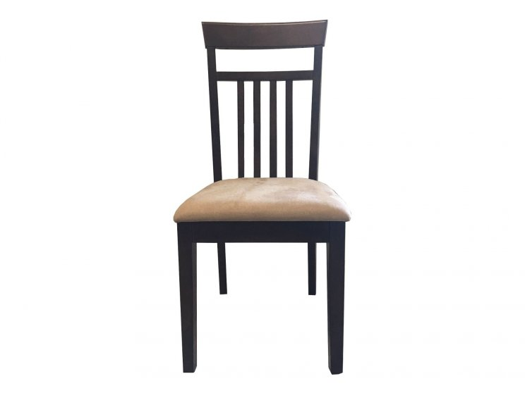 Kintore Dining Chair With Brown Microfibre Cushion
