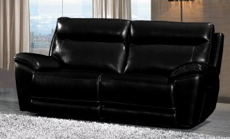 Lorde 3 Seater Electric Recliner Black