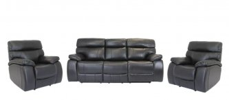 MASON RECLINER LOUNGE SUITE, BLACK