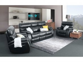 Mason Recliner Lounge Suite Black