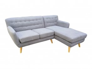 Mika 2 Seater With Chaise Light Grey