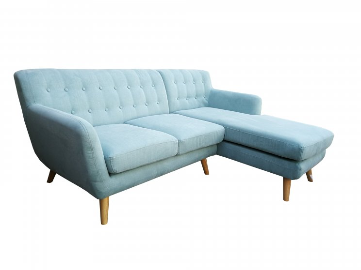 Mika 2 Seater With Chaise Tiffany Blue