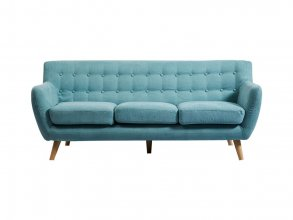 Mika 3 Seater Sofa Dark Grey