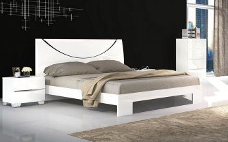 Nolan 4PCS King Bedroom Package 1Xkb+2Xbs+1Xtb, White