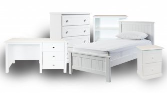 Snow 5 Piece Kids Bedroom Package