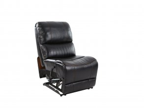 Sunbury Corner Suite With Chaise And Drink Console Black